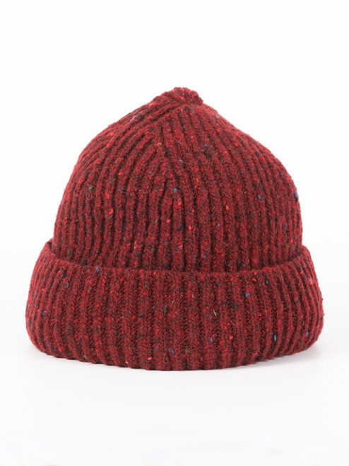 Red Wool Beanie Hat