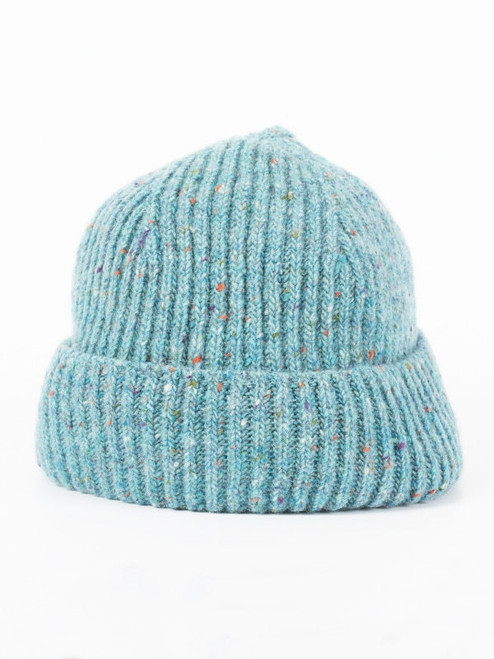 Turquoise Wool Beanie Hat