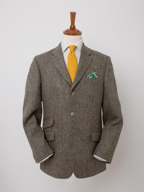 Image of Mens Bracken Brown Harris Tweed 2 Piece Suit