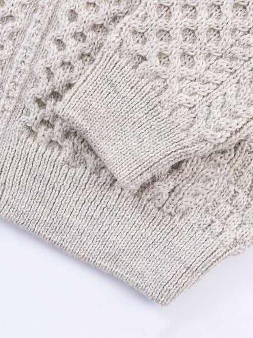 Pure Wool Aran Zip-Up Cardigan