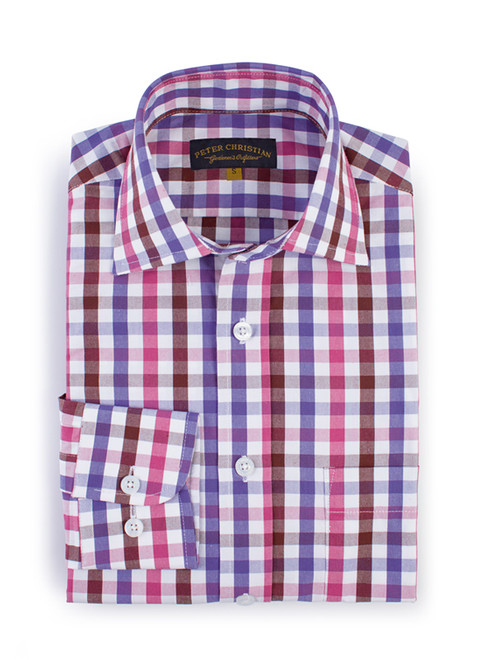 Plum & Berry Ensign Check Long Sleeve Shirt