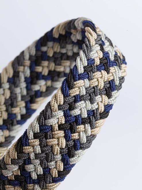 Close Up of Gray Woven Elastic Belt