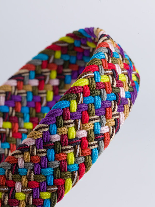 Close Up of Multi Woven Elastic Belt Fabric