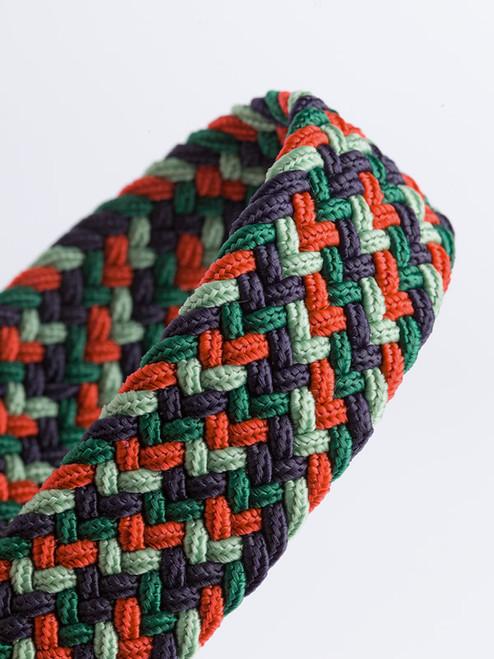 Close Up of Green Woven Elastic Belt