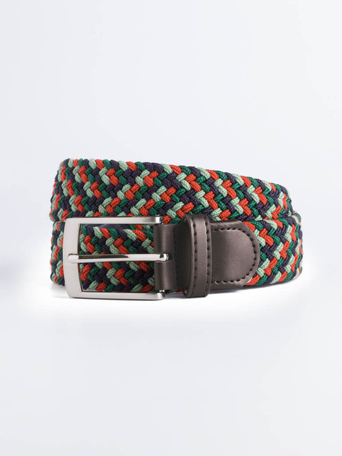 Image of Green Woven Elastic Belt