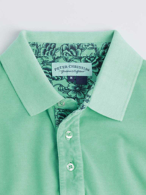 Collar Mint Washed Polo Shirt