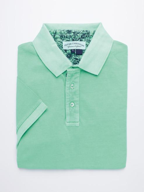 Mint Washed Polo Shirt