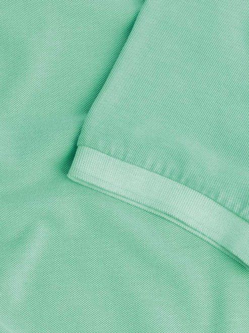 Ribbed sleeve Mint Washed Polo Shirt