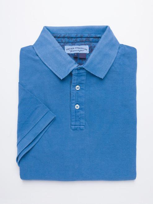 Denim Washed Polo Shirt