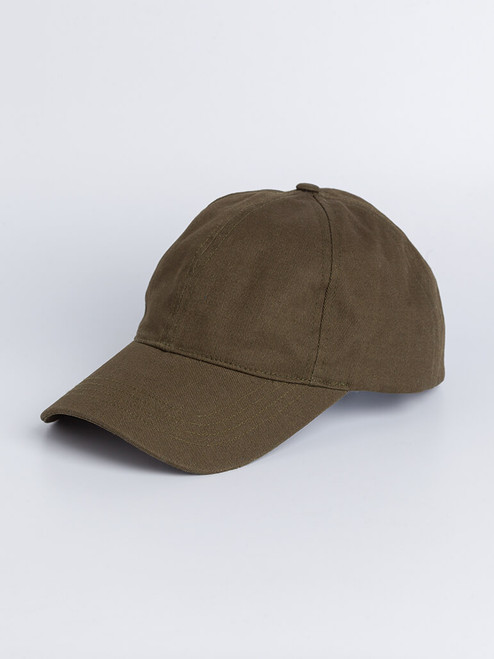 Image of Mens Green Cotton Baseball Cap