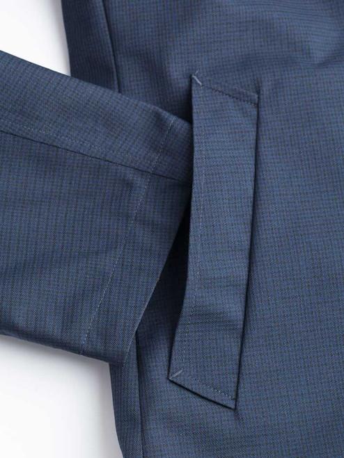 Close Up of Check/Navy Weatherwear Reversible Raincoat Pockets