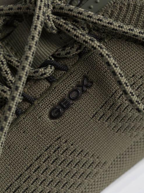 Detail of Olive Geox Spherica Trainer