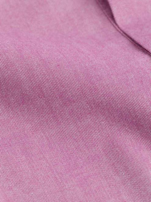 Fabric Close-up on Burgundy Short Sleeve Popover Shirt