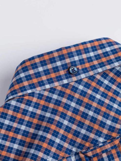 Close Up of Blue Ben Sherman House Check Shirt Logo