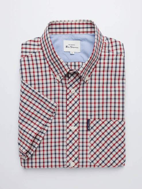 Image of Red Ben Sherman House Check Shirt
