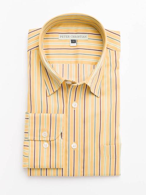 Mustard Multi Coloured Sussex Stripe Shirt