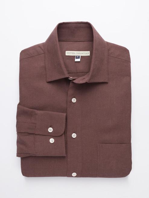 Chocolate Half Placket Shirt