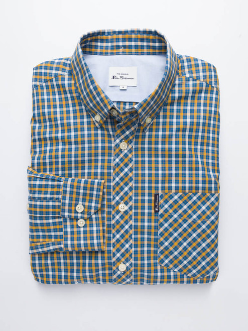 Mustard Ben Sherman Long Sleeve House Check Shirt