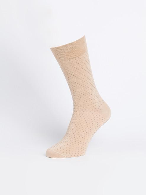 Oat Bamboo Dot Socks