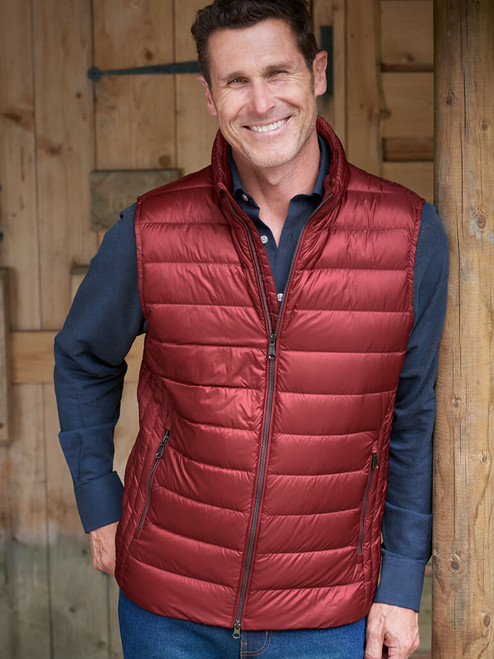 Red Geox Down Gilet