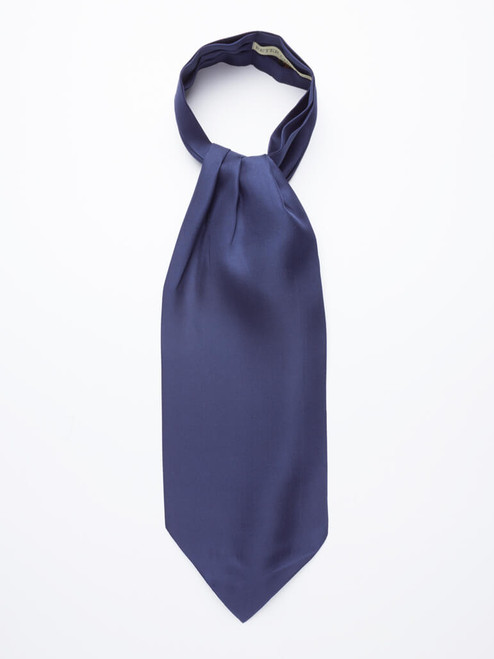 Navy Plain Silk Cravat
