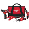 Milwaukee I M12™ COMBO 3/8 DRVDRL/HACKZ/COPPER TUBE CUTTER/LGT