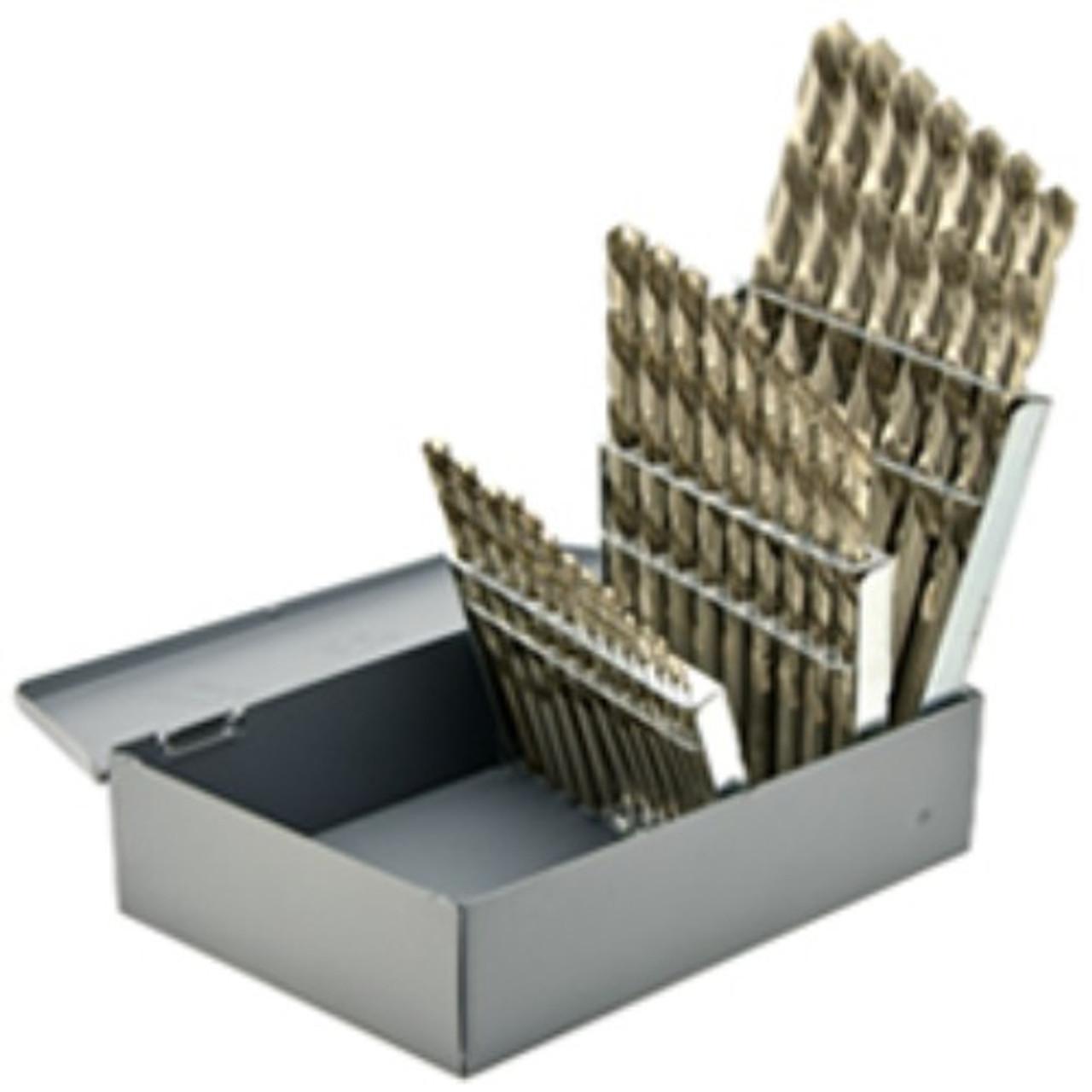 6 Pack Alfa Tools S160224TN Size X High-Speed Steel Jobber Drill Split Point Titanium Nitride Coated