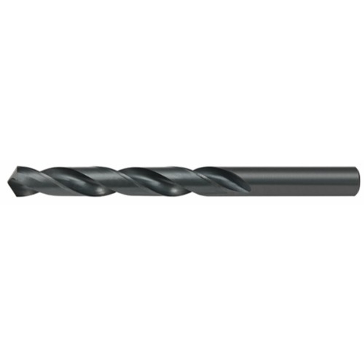 12 Pack Alfa Tools MJ251983 5.70mm High-Speed Steel Metric Black Oxide Finish Jobber Drill