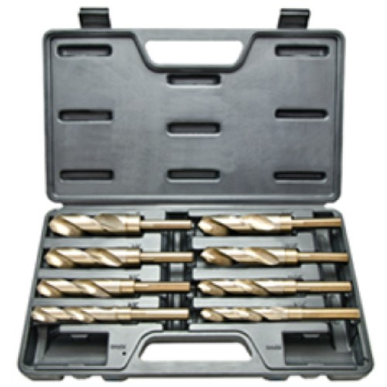 Reduced Shank Drill Bit Set Silver /& Deming 9//16-1 8-pc