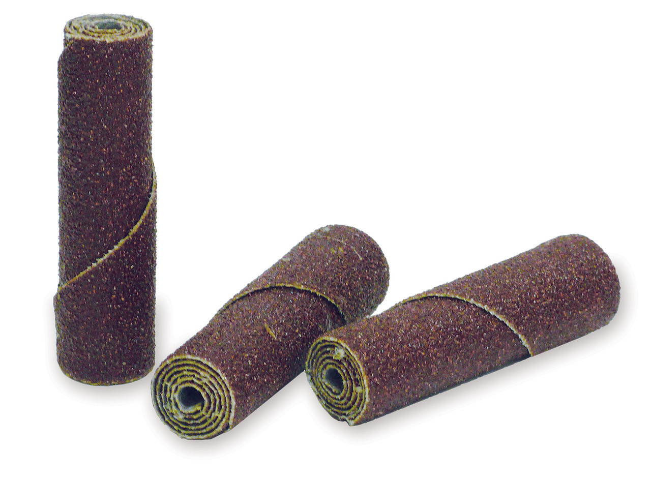 "100 Pack 1//4/"" x 1-1//2/"" x 1//8/"" Aluminum Oxide Abrasive Cartridge Roll Straight"