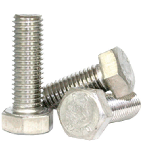 M20-2.50x50 MM DIN 933 HEX CAP SCREWS COARSE STAIN A2, Qty 10