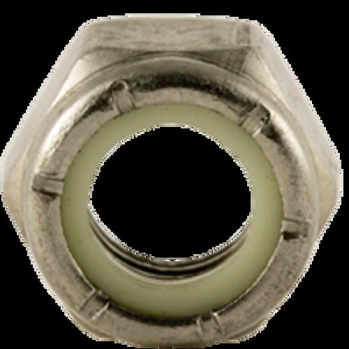 "1/4""-20 NTE (THIN) NYLON INSERT  NYLON INSERT LOCKNUTS COARSE STAIN A2 (18-8), Qty 100"