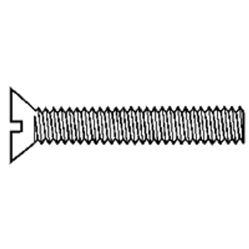 """#10-32x1/2"""" ROUND SLOT Machine Screw Brass, Qty 100"""