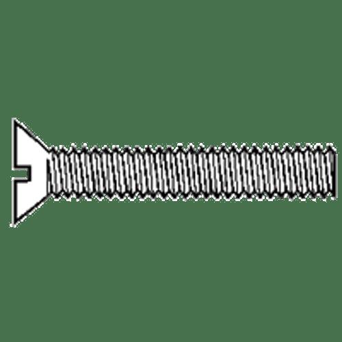 """#10-32x3"""" ROUND SLOT  Machine Screw Brass, Qty 100"""