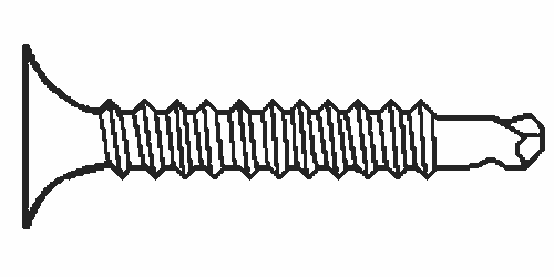 """#6-20x1"""" BUGLE PHILLIPS,#2 POINT SELF DRILLING DRYWALL SCREWS, PHOSPHATED, Qty 100"""
