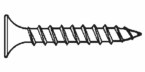 "#6x1 1/4"" Square Drive Bugle Head Deck Screws Zinc Yellow, Hardened , Qty 100"