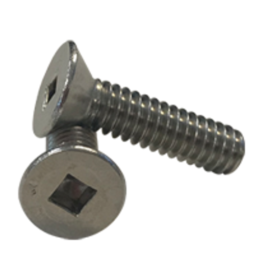"""1/4""""-20x1"""",(FT) MACHINE SCREWS SQUARE FLAT HEAD STAINLESS A2 (18-8), Qty 100"""