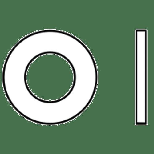 #4 SAE FLAT WASHERS LOW CARBONPLAIN, Qty 100