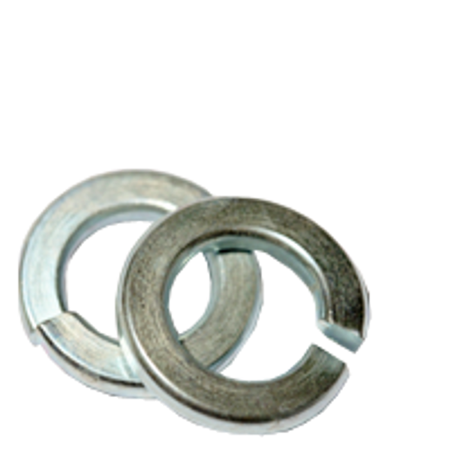 "9/16"" REGULAR SPLIT LOCK WASHERS ZINC CR+3, Qty 100"