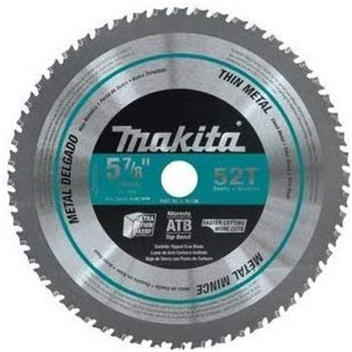 "Makita   5-7/8"" 52T Thin Metal Carbide-Tipped Saw Blade"