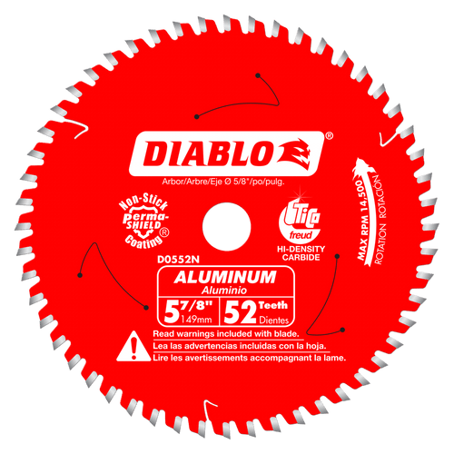 5-7/8 in. x 52 Tooth Medium Aluminum Cutting Saw Blade