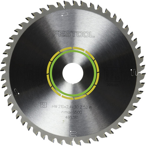 Festool Fine Tooth Cross-Cut Saw Blade For TS 75 Plunge Cut Saw - 52 Tooth