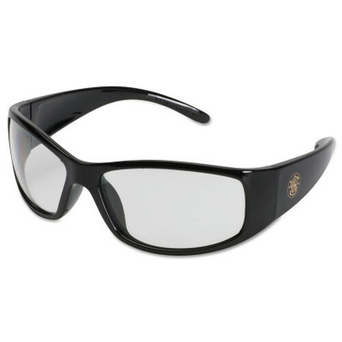 Professional Elite Safety Eyewear, Clear Lens, Anti-Fog, Anti-Scratch, Black Frame, Nylon, 1/PR