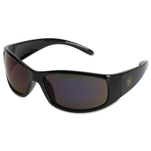 Professional Elite Safety Eyewear, Smoke Lens, Anti-Fog, Anti-Scratch, Black Frame, Nylon, 1/PR