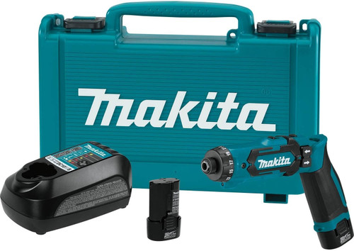 """7.2V Lithium-Ion Cordless 1/4"""" Hex Driver-Drill Kit with Auto-Stop Clutch"""