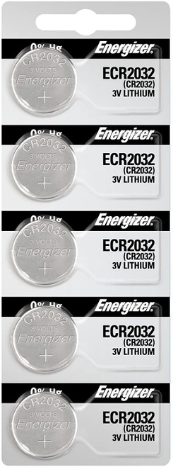 Energizer 2032 Battery CR2032 Lithium 3v, 5 Count