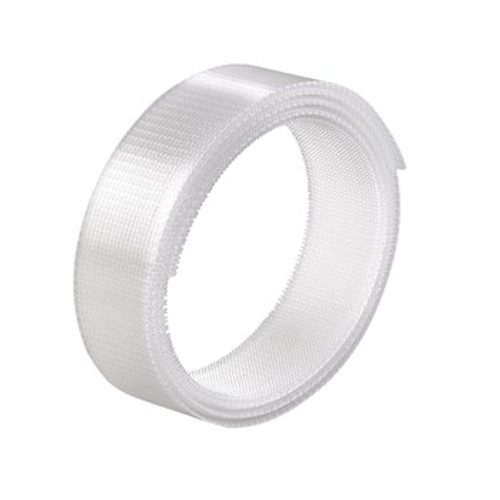 """2"""" X 25' Low-Profile Snap-Together Polyolefin Plastic Fastener Clear"""