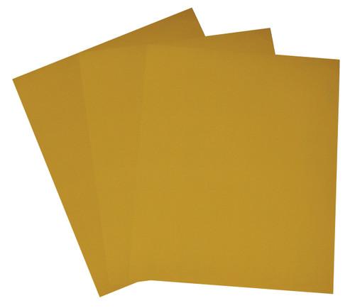 """Alfa Tools I 9"""" X 11"""" 400 GRIT ALUMINUM OXIDE GOLD PAPER SHEETS 50/PACK"""