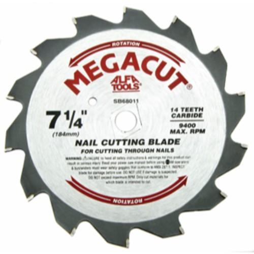 "Alfa Tools I 7-1/4""X14T NAILCUT CARBIDE TIPPED SAW BLADE"
