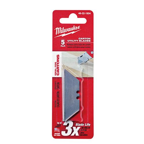 Milwaukee I 5 PC CARTON UTILITY KNIFE BLADES
